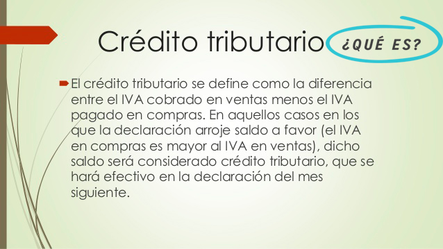 definición crédito tributario